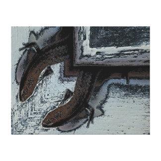 Impressão das canvas - pendurando para fora