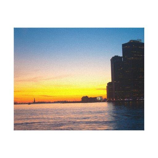 Impressão das canvas: Por do sol de New York Impressão Em Canvas