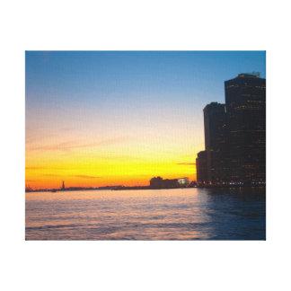 Impressão das canvas: Por do sol de New York Impressão Em Tela