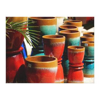 Impressão das canvas - potes do plantador
