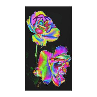 Impressão das canvas - rosas do arco-íris