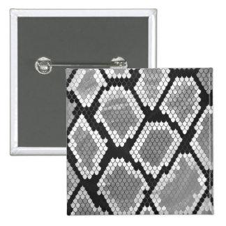 Impressão das cinzas, do branco e do preto do bóton quadrado 5.08cm
