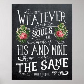 Impressão das citações de Emily Bronte