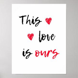 Impressão das citações do amor