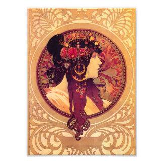 Impressão de Alphonse Mucha Donna Orechini Impressão De Foto