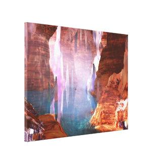 Impressão de brilho das canvas das cavernas