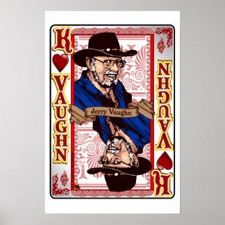 Impressão de cartão de Jerry Vaughn da reunião de
