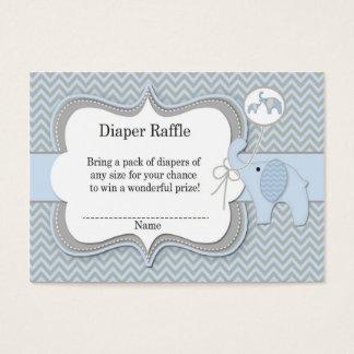 Impressão de Chevron do Raffle do bebê do elefante Cartão De Visitas