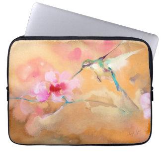 """Impressão """"de cora"""" do colibri capa para laptop"""