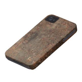 Impressão de couro sujo velho capas para iPhone 4 Case-Mate