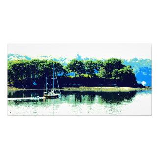 impressão de cruzamento da foto do veleiro