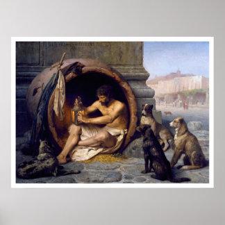 Impressão de Diogenes & de poster dos cães por Gér