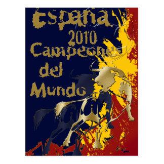 Impressão de Espana Campeones Del Mundo Poster Cartao Postal