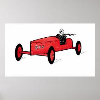 Impressão de esqueleto do carro do Soapbox de Barg