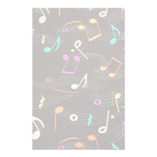 Impressão de flutuação do tecido das notas papelaria