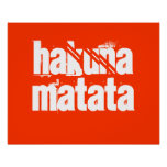 Impressão de Hakuna Matata