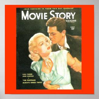 Impressão de Lana Turner dos anos 40 do cobrir da