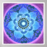 Impressão de Lotus azul