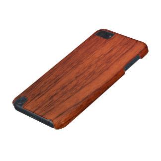 Impressão de madeira de mogno capa para iPod touch 5G