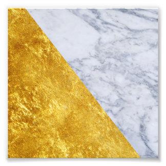 Impressão de mármore branco da foto do quadrado da
