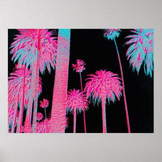 Impressão de néon da arte do art deco de Miami