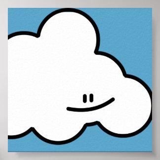 Impressão de sorriso da nuvem