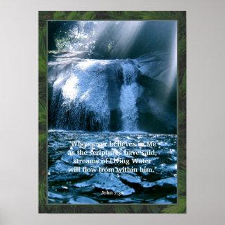 Impressão de vida do poster da escritura da água d