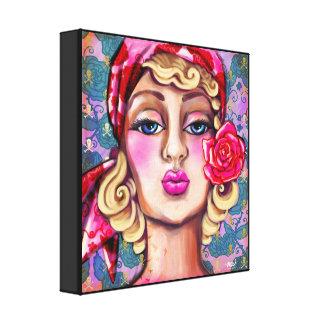 Impressão decorativo - o louro sensual com impressão em tela