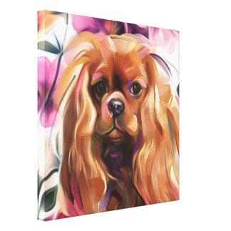 """Impressão descuidado da arte do cão do """"rubi"""" em"""