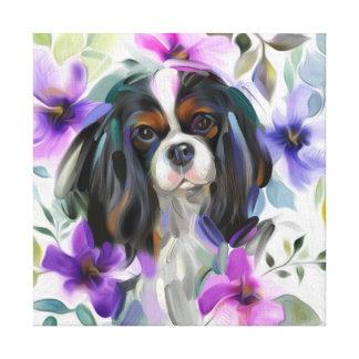 """Impressão descuidado Tricolor do cão da """"anêmona"""""""