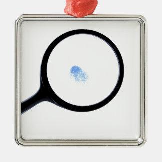 Impressão digital de CSI Ornamento Quadrado Cor Prata