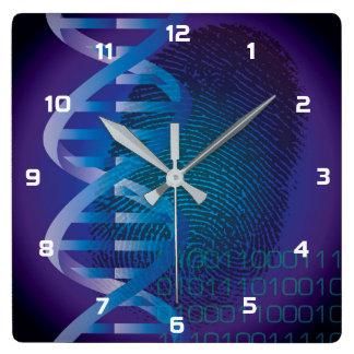 Impressão digital do ADN de CSI Relógios Para Paredes