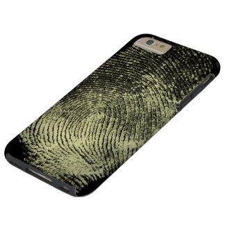 Impressão digital invertida do laço capa tough para iPhone 6 plus