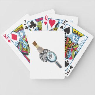 Impressão digital cartas de baralho