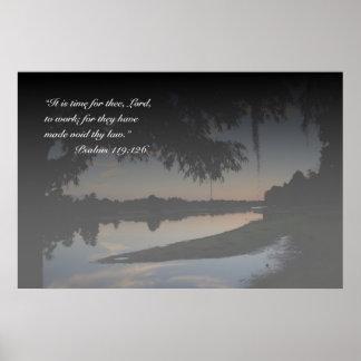 Impressão do 119:126 dos salmos