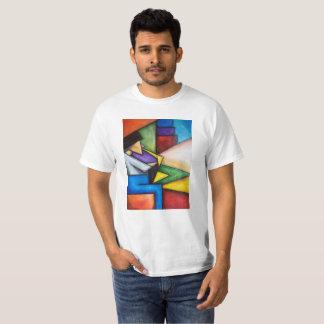 Impressão do abstrato do jogador de saxofone no camiseta