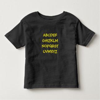 Impressão do alfabeto da criança camiseta infantil