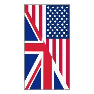Impressão do americano e da foto da bandeira de