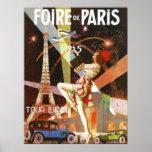 impressão do art deco de Paris dos anos 20