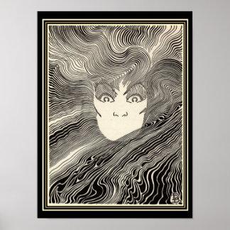 """Impressão do art deco de """"Pele"""" por Don Blanding"""
