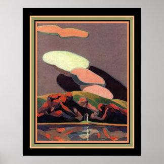 Impressão do art deco por A M. Hopfmuller 16 x 20