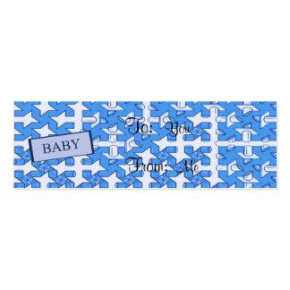 Impressão do bebé cartão de visita skinny