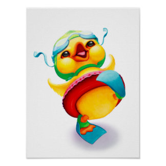 Impressão do berçário do pato de Edgar