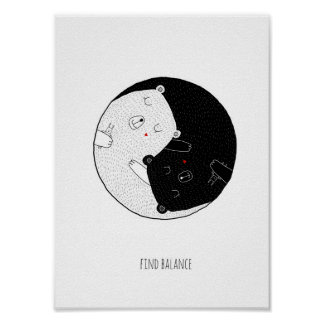 Impressão do berçário, equilíbrio do achado, Yin e