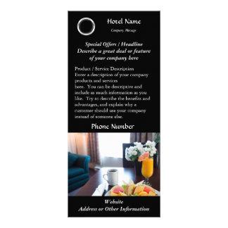 Impressão do cartão da cremalheira do hotel 10.16 x 22.86cm panfleto