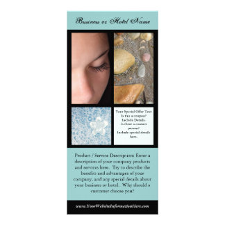 Impressão do cartão da cremalheira, termas ou mode panfletos informativos personalizados