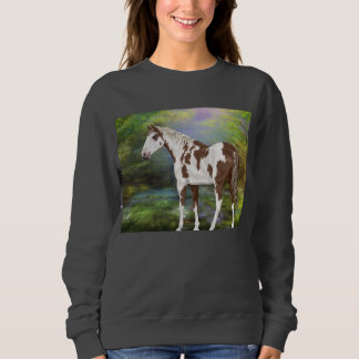 Impressão do cavalo da pintura de Tovero da azeda Moletom