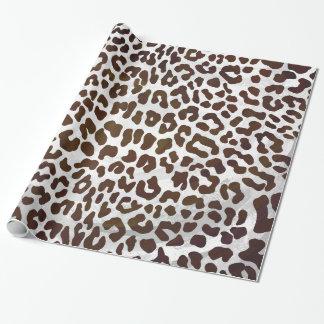 Impressão do chocolate do leopardo papel de presente