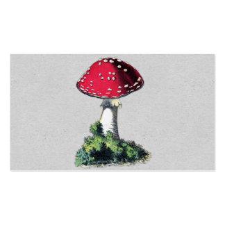 Impressão do cogumelo do vintage cartão de visita
