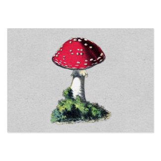 Impressão do cogumelo do vintage cartão de visita grande